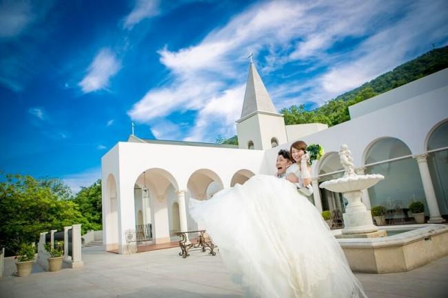 グランマニエのウエディングドレス|ローズガーデンクライスト教会|チャペル