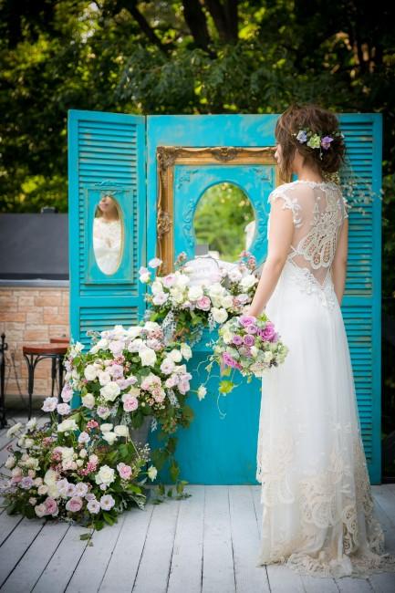 ナチュラルウエディング|ガーデンウエディング|ソナタ|グランマニエのウエディングドレス