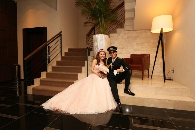 ベリナダ|ピンクのカラードレス|レースのドレス|グランマニエのカラードレス