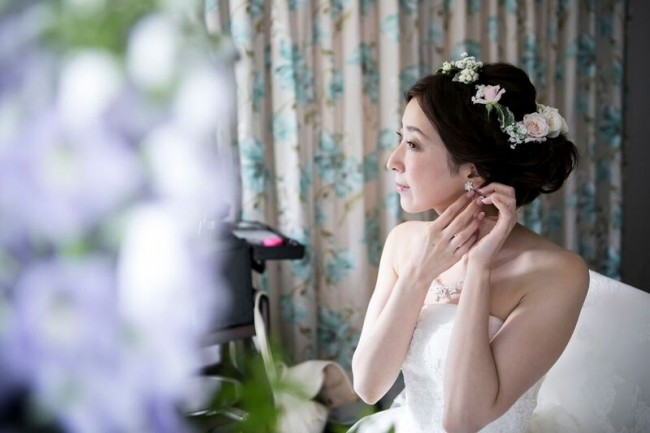花冠|グランマニエのウエディングドレス