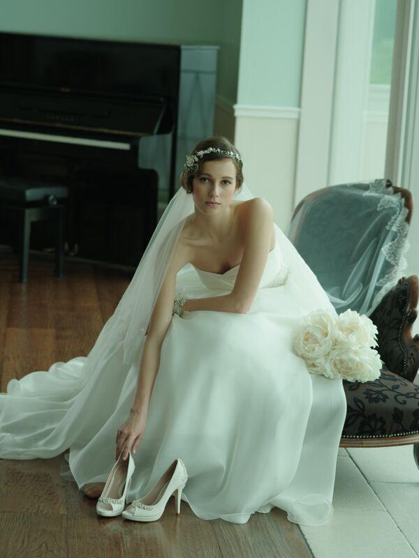 シルクオーガンジー|シルクのドレス|グランマニエのウエディングドレス