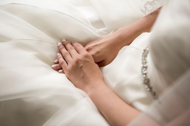 グランマニエのウエディングドレス シルクのウエディングドレス オーガンジー