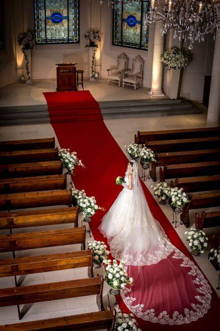 グランマニエのウエディングドレス|グランマニエのベール|ロングベール