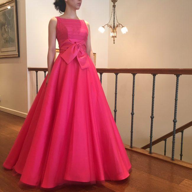グランマニエのカラードレス|ピンクのカラードレス|大人花嫁