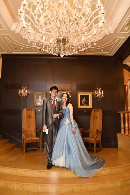 グランマニエのカラードレス ブルーのドレス メリルストリープ