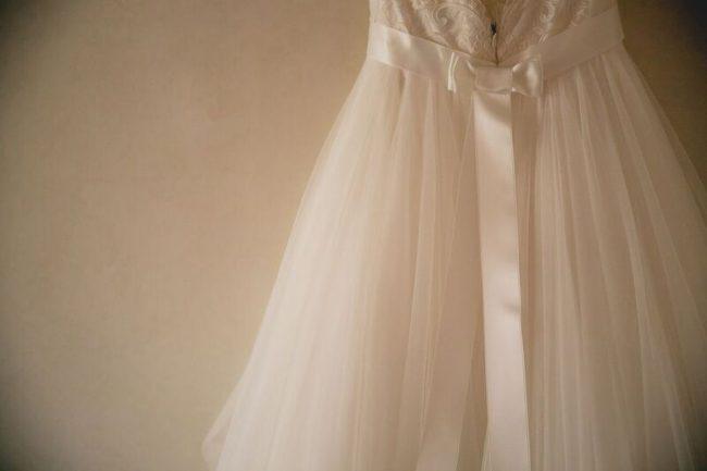 グランマニエのウエディングドレス|シルク|チュール|チュールのドレス