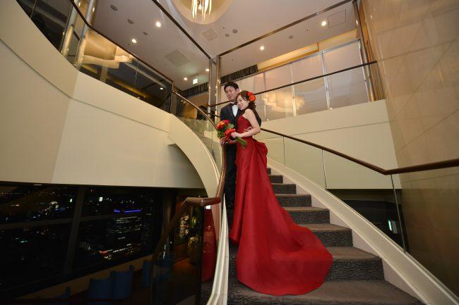 グランマニエのカラードレス|赤のドレス|スレンダーのドレス