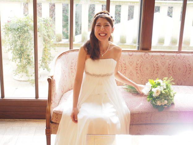 エンパイアのドレス|グランマニエのウエディングドレス|グランマニエ