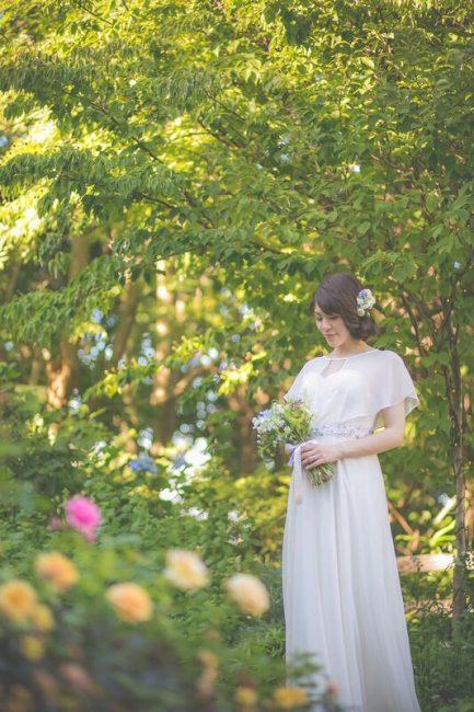 グランマニエのウエディングドレス ダウンスタイル