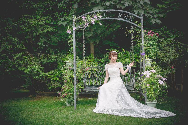前撮り|グランマニエのウエディングドレス