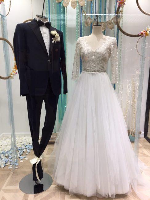 ジャスティーナ グランマニエのウエディングドレス
