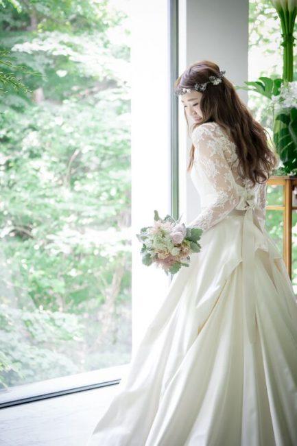 ロングスリーブ グランマニエのウエディングドレス