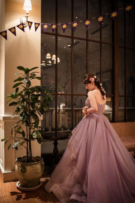 ラプンツェル|パープル|紫|グランマニエのカラードレス