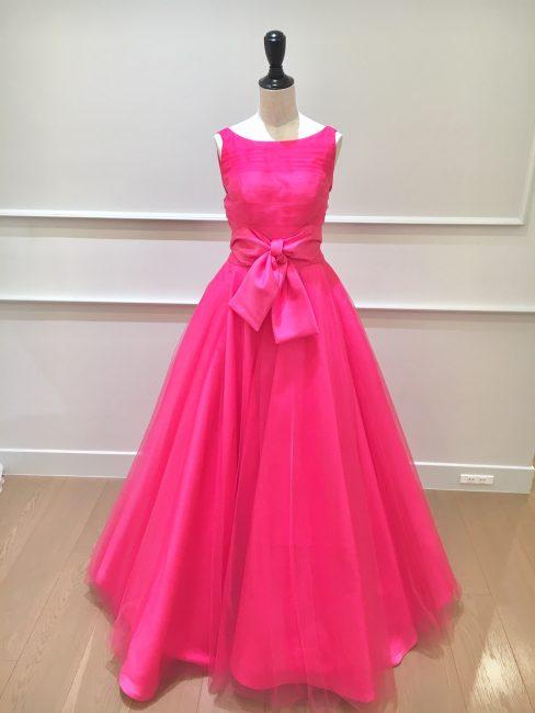 フェイス|ピンクのカラードレス|バービー|リカちゃん|リボン