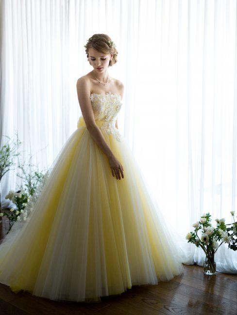グランマニエのカラードレス|プリンセス|ディズニー|イエロードレス
