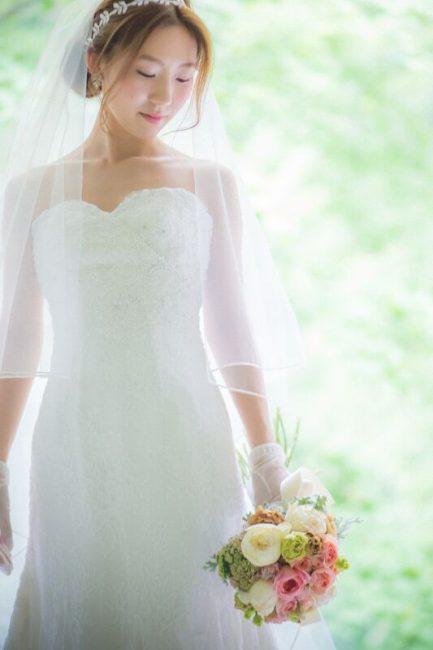 ハートカット グランマニエのウエディングドレス