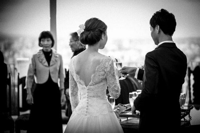 ロングスリーブ 長袖 グランマニエのウエディングドレス