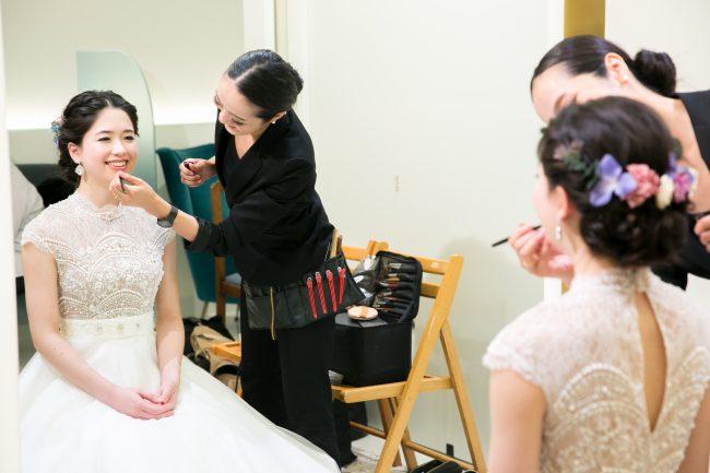 ヘアメイクリハーサル|グランマニエの花嫁