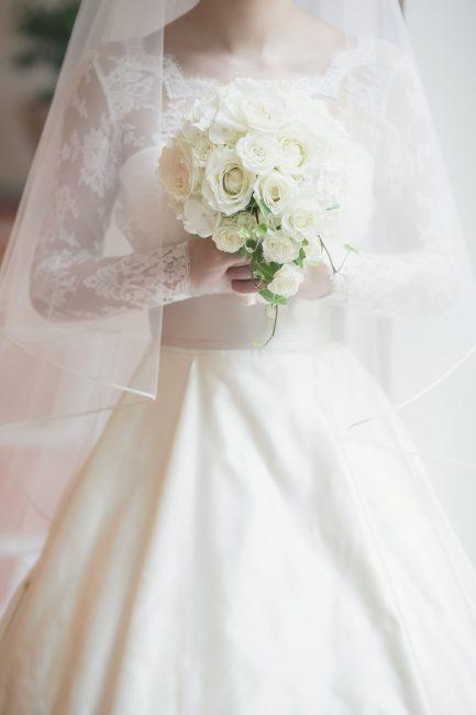ロングスリーブ|シルク素材|グランマニエのウエディングドレス