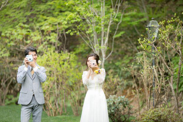 ガーデン|フォトジェニック|グランマニエの花嫁