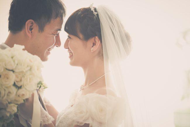 ベールアップ|グランマニエの花嫁様