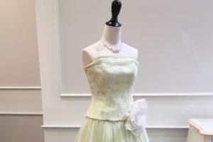 デルフィナ|ミントグリーンのカラードレス