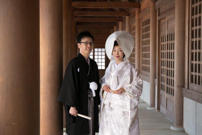 北海道神宮挙式|グランマニエの和装