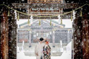 護国神社|和装フォト|グランマニエの和装