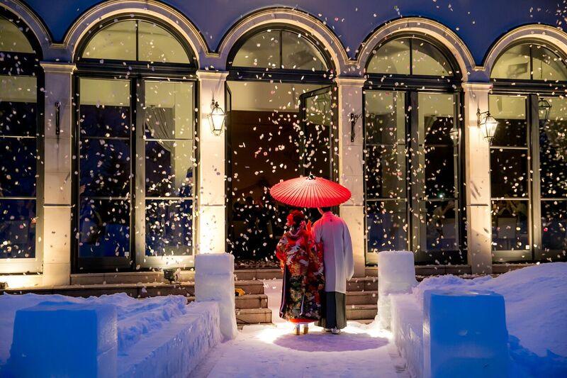 和装フォト|色打掛|赤|番傘|グランマニエの和装