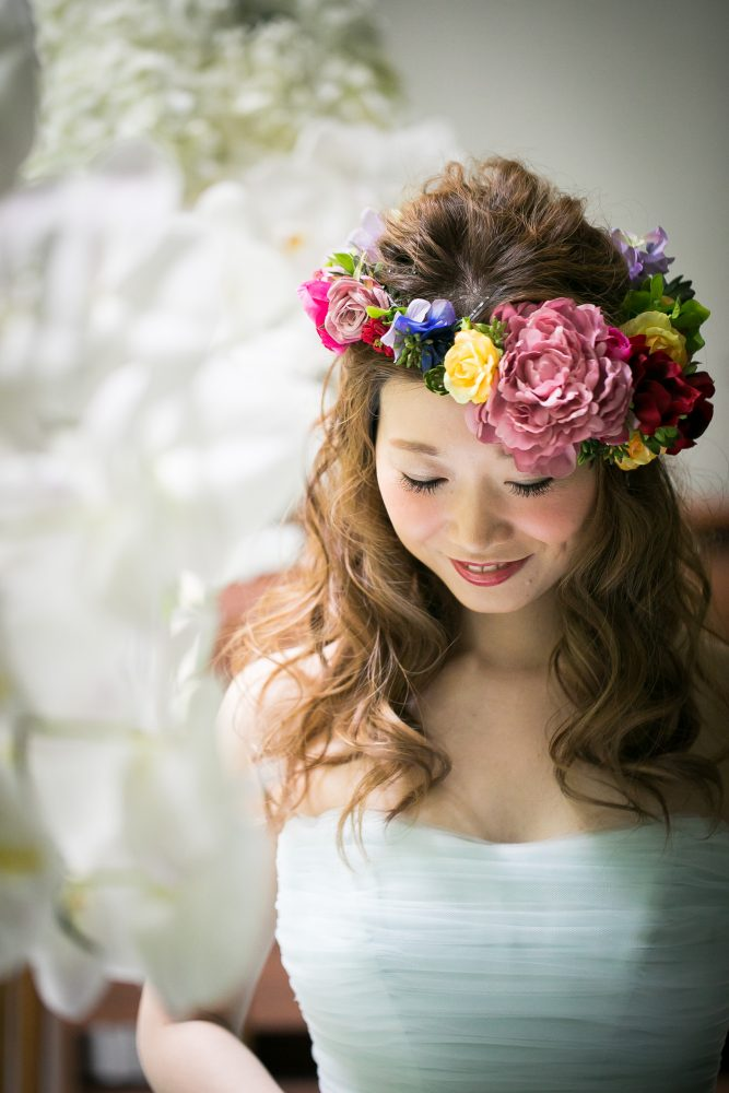 花冠|トレンド|フラワー|グランマニエの花嫁さま