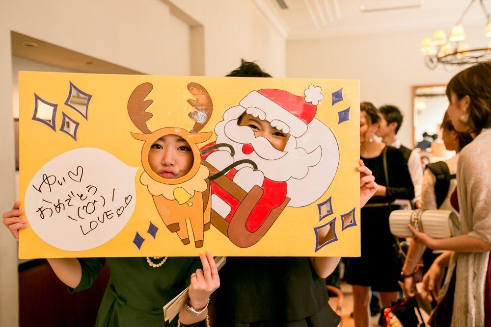 クリスマス|ウエディングパーティー|フォトブース