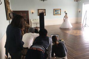 撮影風景|グランマニエのウエディングドレス