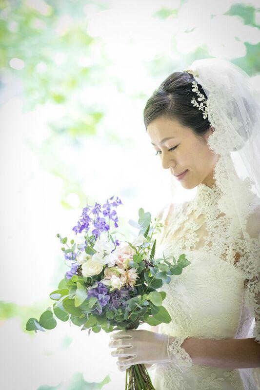 ウエディングブーケ|ユーカリ|グランマニエの花嫁