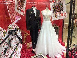 【インペリアル】素材の美しさで魅せるウエディングドレスを展示