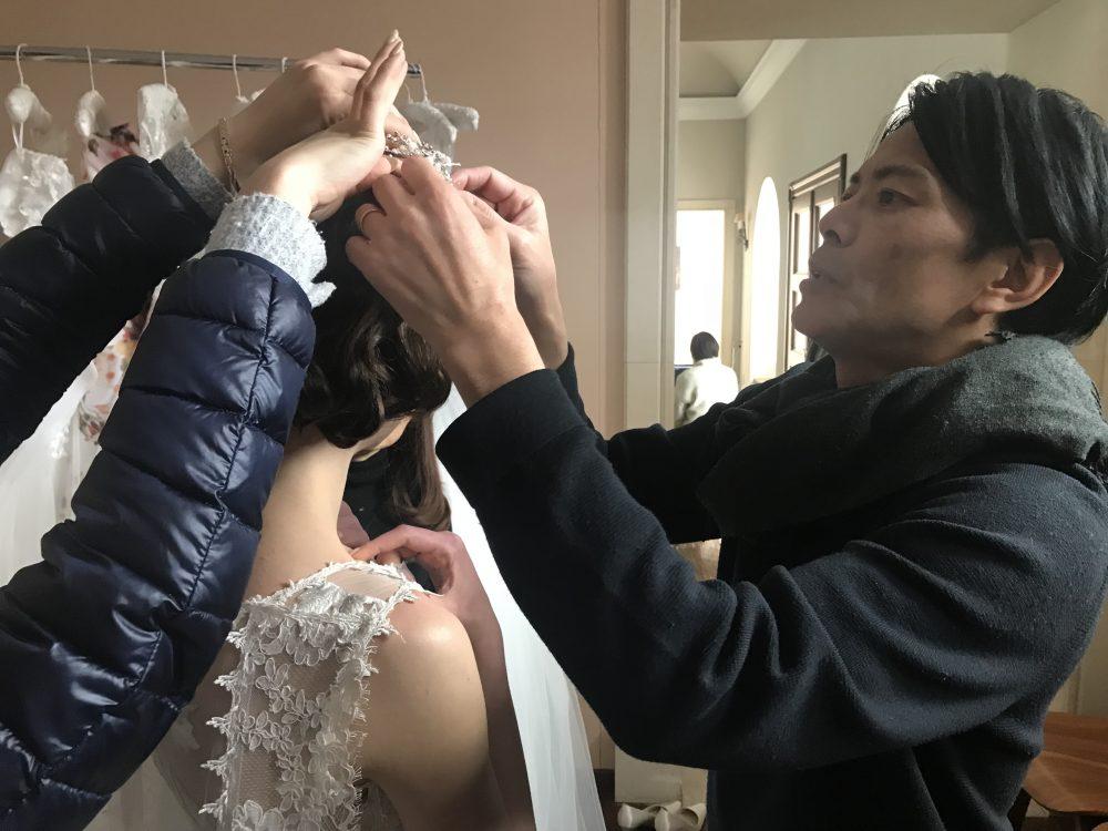 グランマニエのドレス撮影風景