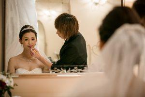 お支度ショット|グランマニエの花嫁