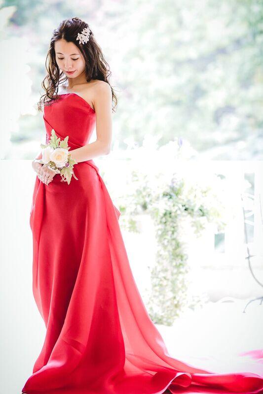 ガザールガウン|レッド|グランマニエのカラードレス