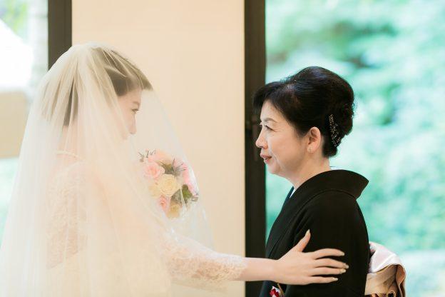 ベールダウン|母|花嫁
