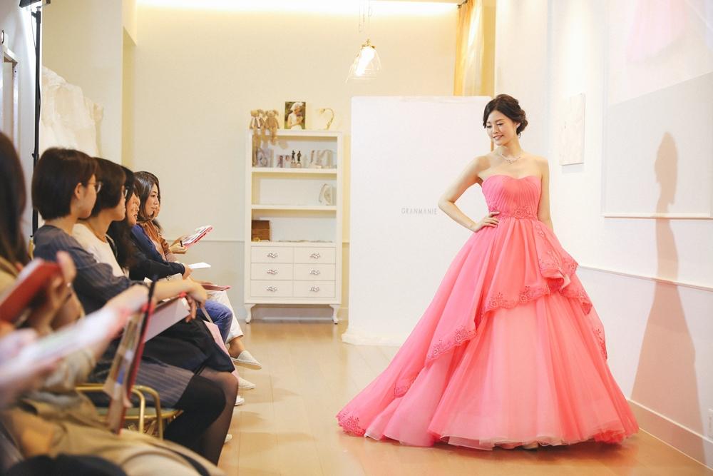 ブリジッドバルドーピンク|グランマニエのカラードレス
