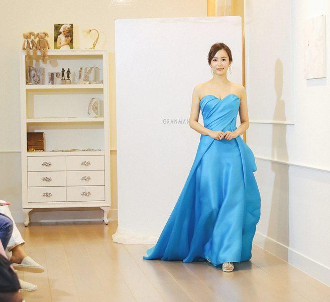 ローレンブルー|青|BLUE|グランマニエのカラードレス