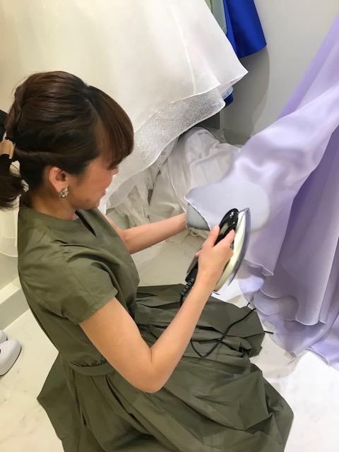 ドレスのメンテナンス|シルクのウエディングドレス