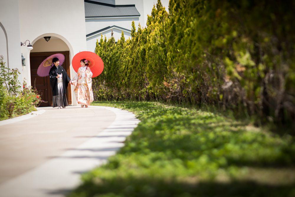 ローズガーデンクライスト教会|前撮|グランマニエの色打掛