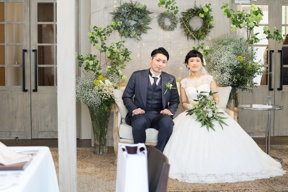 テラス|ディスプレイ|グランマニエの花嫁