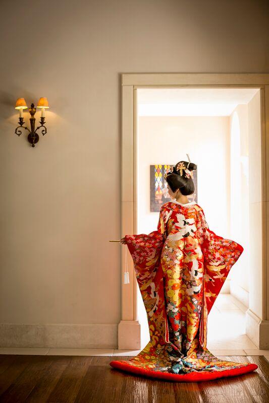 色打掛|和装|鶴