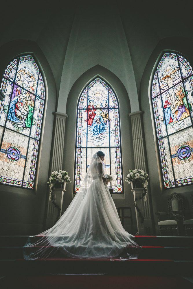 挙式|ローズガーデンクライスト教会|バックコンシャス