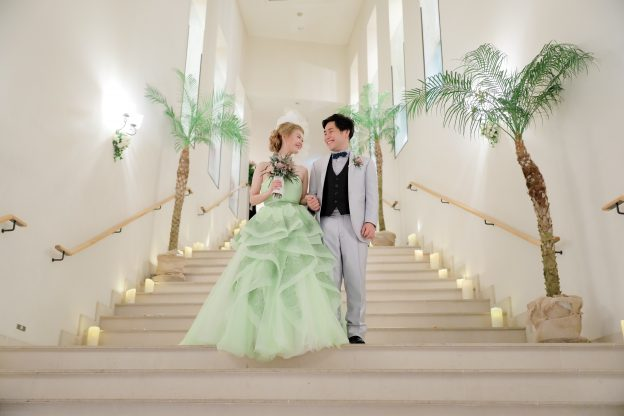 シンデレラグリーン|グランマニエのカラードレス