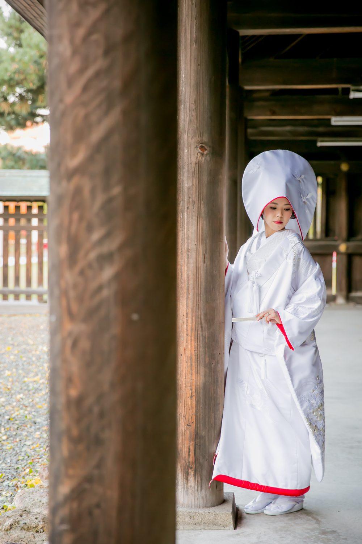和装フォト|白無垢|護国神社