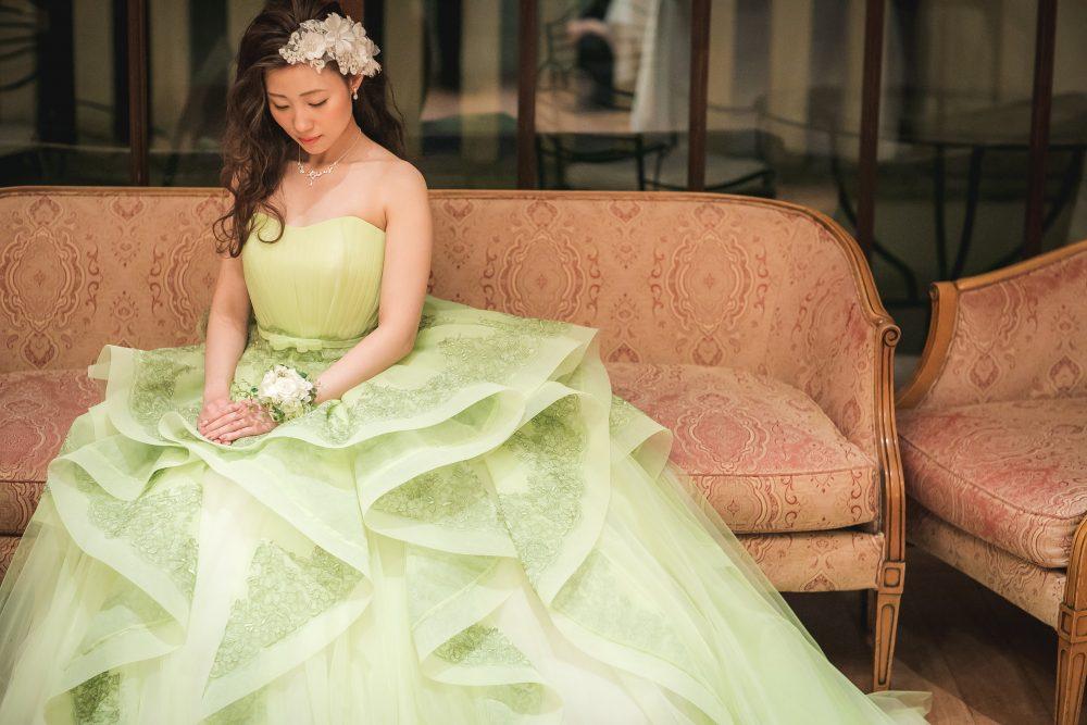 シンデレラグリーン グリーンカラードレス